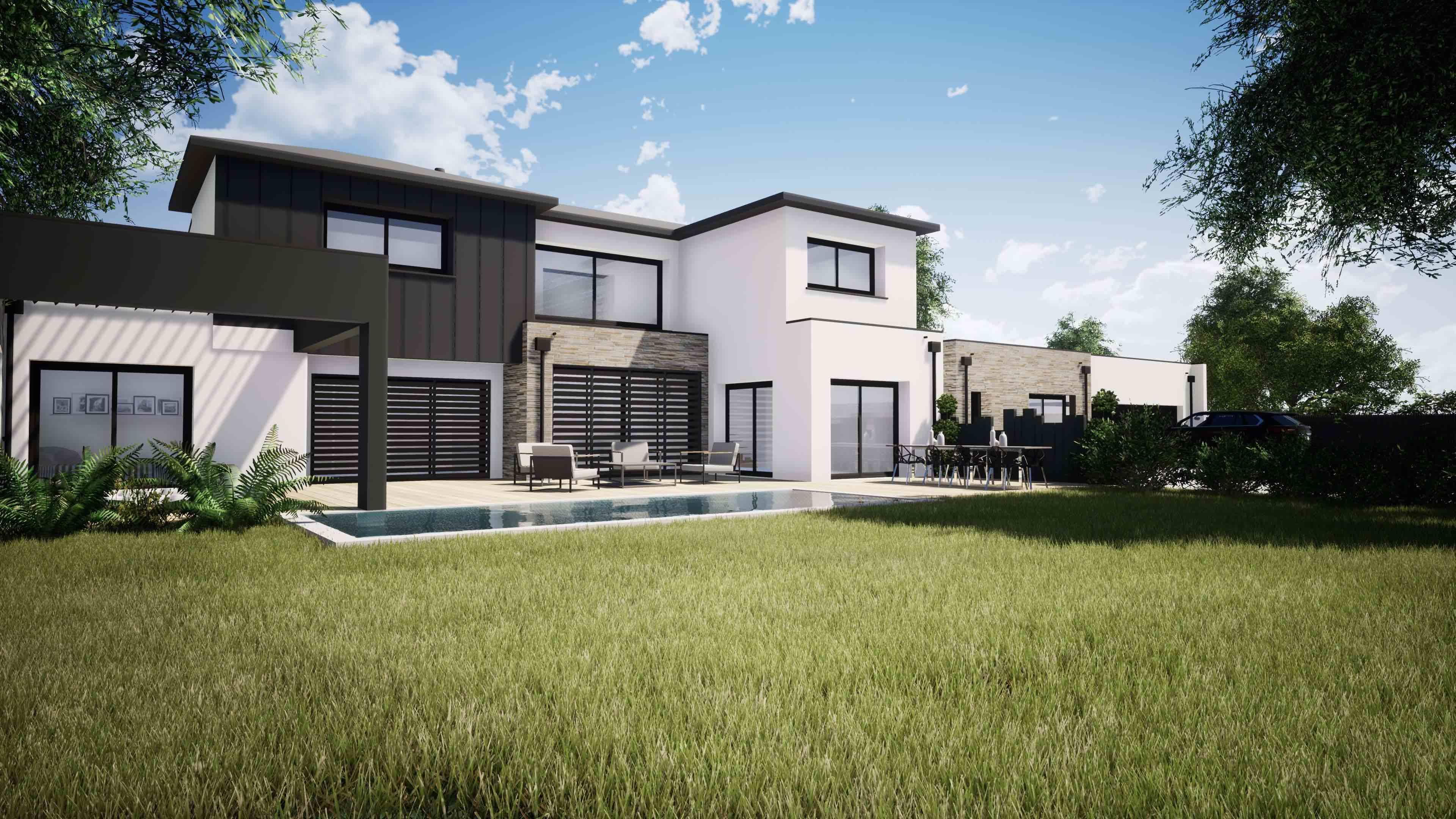 Conception maison individuelle contemporaine